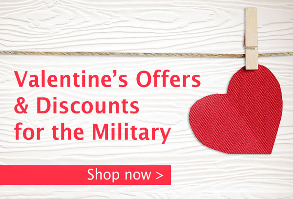 Military Valentine's Day Discounts