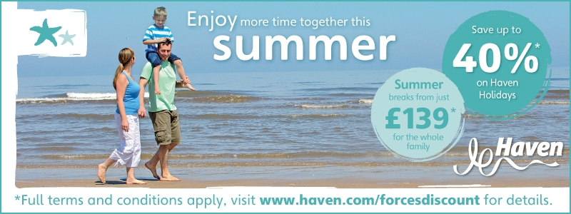 Haven Holidays 40% Discount