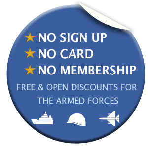 Free and open discounts for the armed forces family
